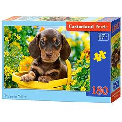 Puzzle 180 Castorland - Puppy in Yellow