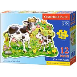 Puzzle 12 Maxi - Cows on a Meadow CASTORLAND