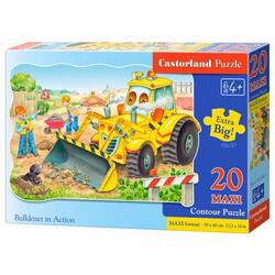 Puzzle 20 Castorland - Maxi Bulldozer in Action