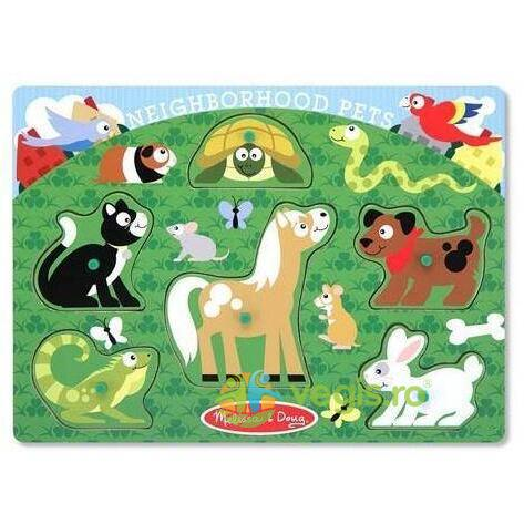 Puzzle de lemn animale de companie 2 ani+ Melissa and Doug