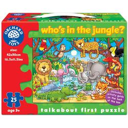 Puzzle cu activitati Cine este in jungla? - Who s in the Jungle? ORCHARD TOYS