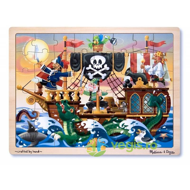 puzzle lemn aventura piratilor 3 ani+ melissa and doug