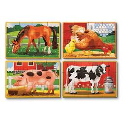Set 4 puzzle lemn in cutie Animale Domestice 3 ani+ Melissa and Doug