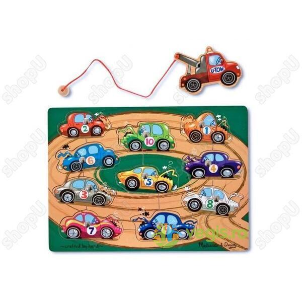 Puzzle lemn magnetic Remorcherul 3 ani+ Melissa and Doug