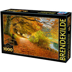 Puzzle 1000 Hans Andersen Brendekilde - A wooded path in autumn D TOYS