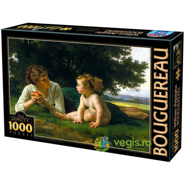 Puzzle 1000 William-Adolphe Bouguereau - Temptation D TOYS