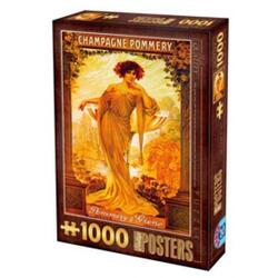 Puzzle 1000 Posteres - Champagne Pommery D TOYS
