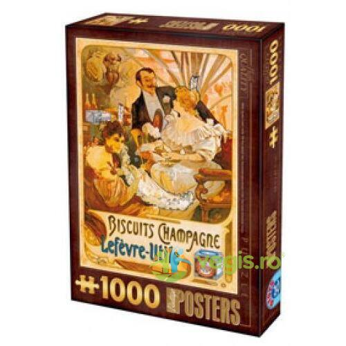 Puzzle 1000 Posteres - Biscuits Champagne D TOYS