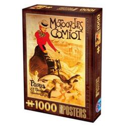 Puzzle 1000 Posteres - Motocycles Comiot D TOYS