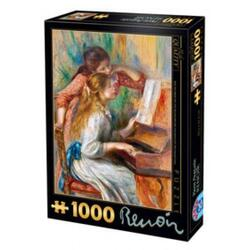 Puzzle 1000 Pierre Auguste Renoir - Girls At The Piano (66909-09) D TOYS