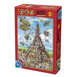 Puzzle 1000 Cartoon Collection - Turnul Eiffel (61218-11) D TOYS