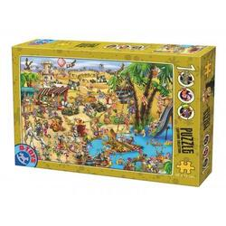 Puzzle 1000 Cartoon collection - Distractie in desert la oaza D TOYS