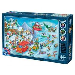 Puzzle 1000 Cartoon Collection - Distractie la sanius D TOYS