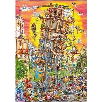 Puzzle 1000 Cartoon Collection - Turnul din Pisa D TOYS