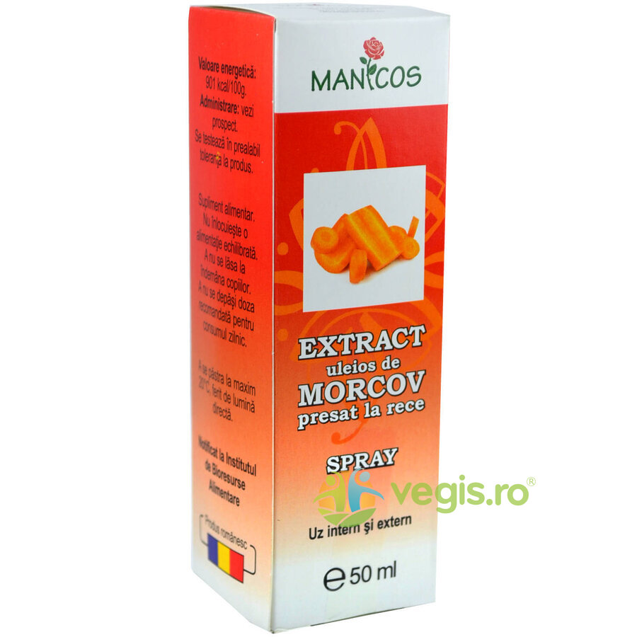 MANICOS Extract Uleios De Morcovi Spray 50ml