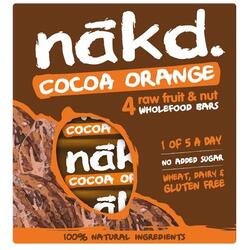 Batoane Multipack Cocoa Orange 4x35g NAKD.