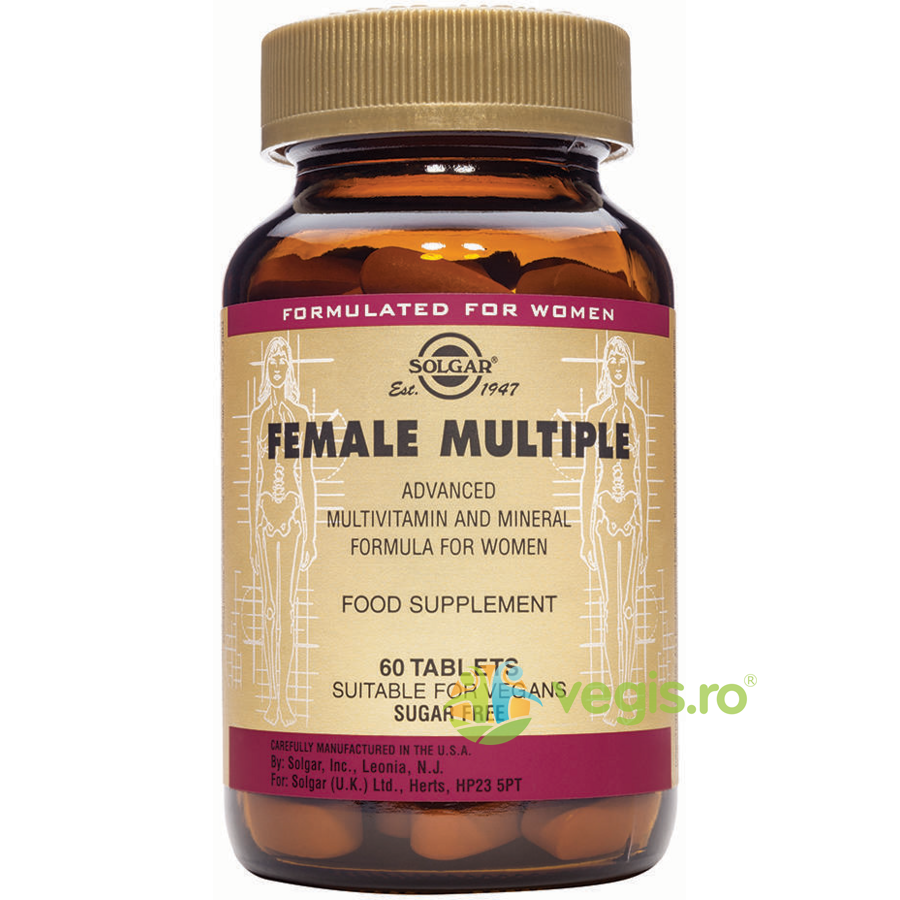 SOLGAR Female Multiple (Multivitamine Femei) 60tab