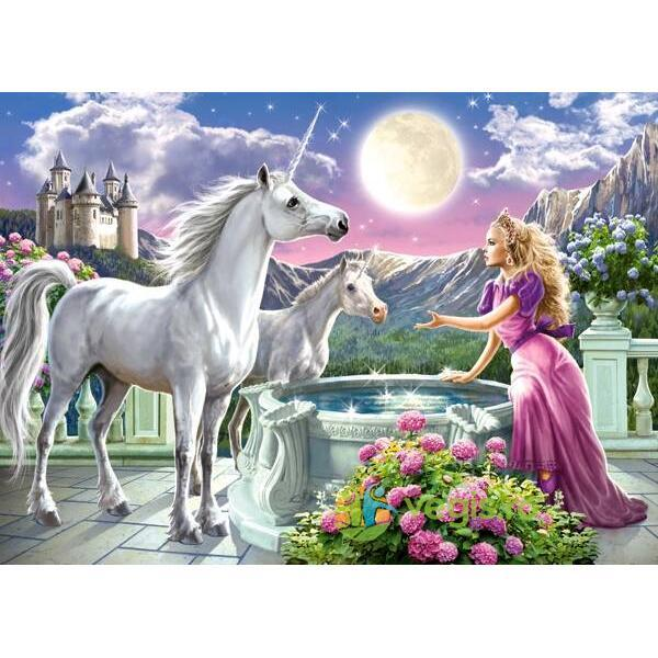 Puzzle 120 Castorland - Princess and her Unicorns