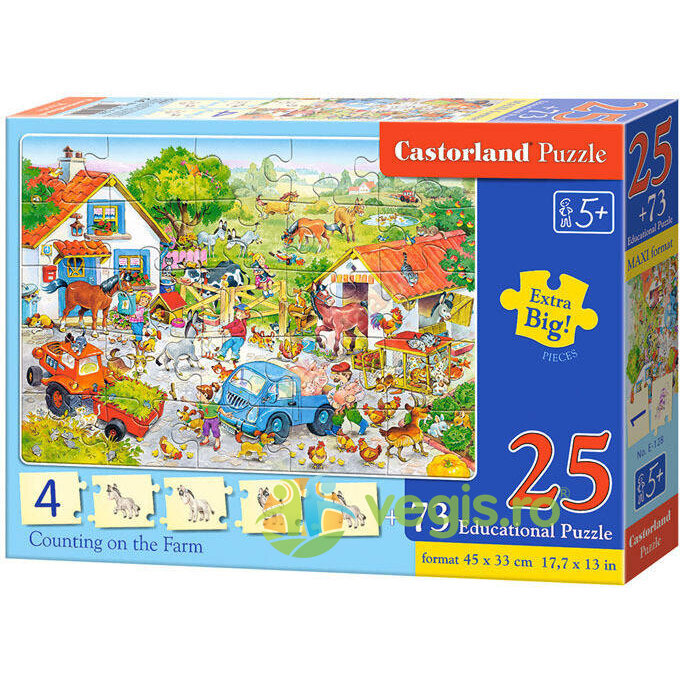 Puzzle Castorland Educational - Counting On The Fa