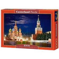 Puzzle 1000 Castorland - The Red Square by Night in Moscow, Russia