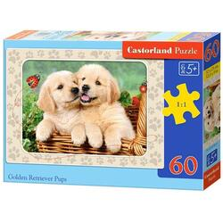 Puzzle 60 Castorland - Golden Retriver Pups