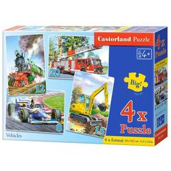 Puzzle 4 in 1 Castorland - Vehicles