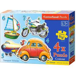 Puzzle 4 in 1 Castorland - Transport Vehicles