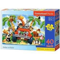 Puzzle 40 Maxi Castorland - Softies on Safari