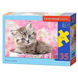 Puzzle 35 Castorland - Kitten in Box
