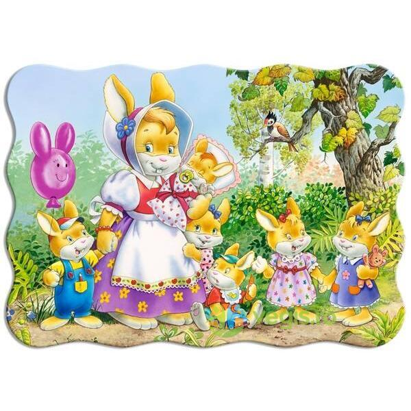 Puzzle 30 Castorland - Rabbit Family
