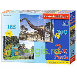 Puzzle 2 in 1 Castorland - Dinosaurs