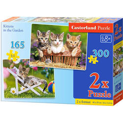 Puzzle 2 in 1 Castorland - Kittens in the Garden