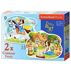 Puzzle 2 in 1 Castorland - Snow White and the Seven Dwarfs
