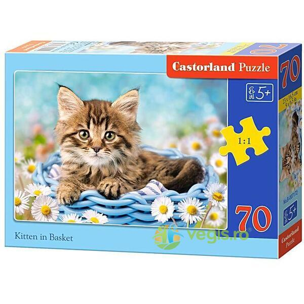 Puzzle 70 Castorland - Kitten in a Basket