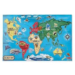 Puzzle de podea harta lumii World Map 6 ani+ Melissa and Doug