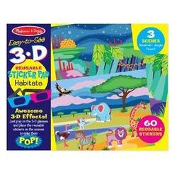 Set abtibilduri reutilizabile 3D habitate: Melissa and Doug MELISSA & DOUG