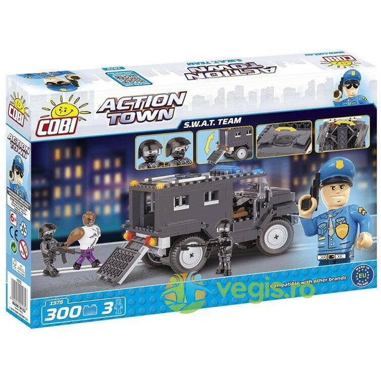 action town cobi 300 pcs - s.w.a.t. team