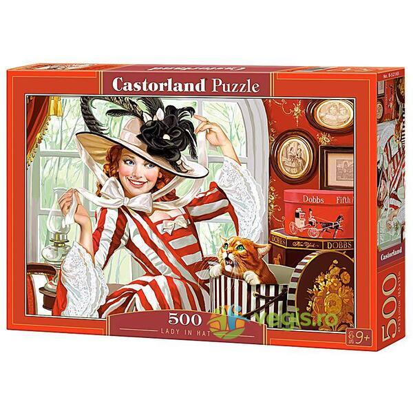 Puzzle 500 Castorland - Lady in Hat
