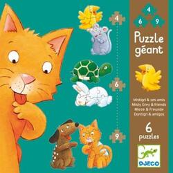 Puzzle gigant Djeco - Misty and friends