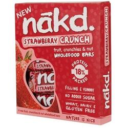 Batoane Multipack Strawberry Crunch 4x30g NAKD.