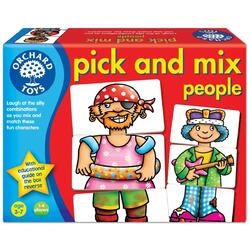 Joc educativ. Asociaza personajele - Pick and mix people ORCHARD TOYS