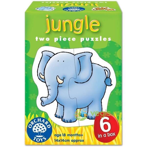 Set 6 puzzle Jungla (2 piese) ORCHARD TOYS