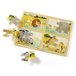 Set 4 puzzle lemn Safari 3 ani+ Melissa and Doug