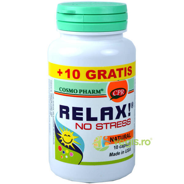 Relax! No Stress 10Cps+10Cps Gratis COSMOPHARM