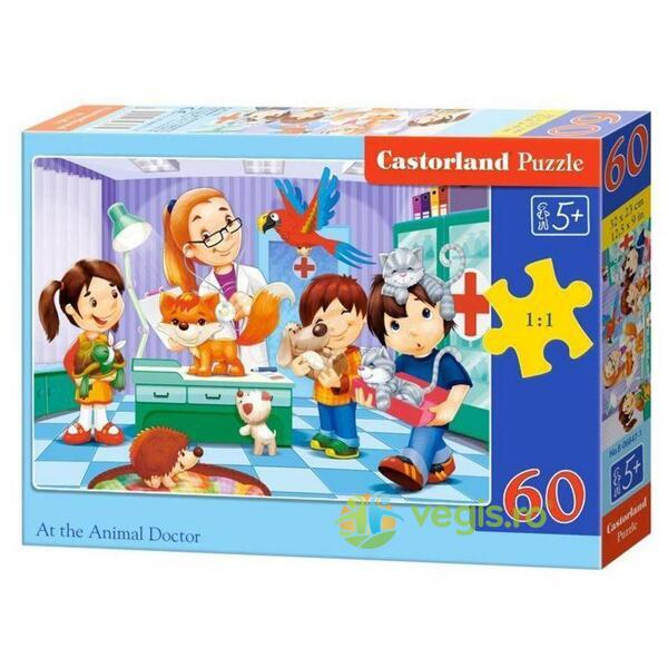 Puzzle 60 Castorland - At the animal doctor