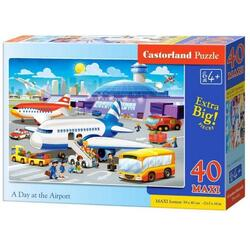 Puzzle 40 Maxi - A day at the airport CASTORLAND