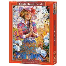 Puzzle 1500 Castorland - A Girl with an Openwork Umbrella