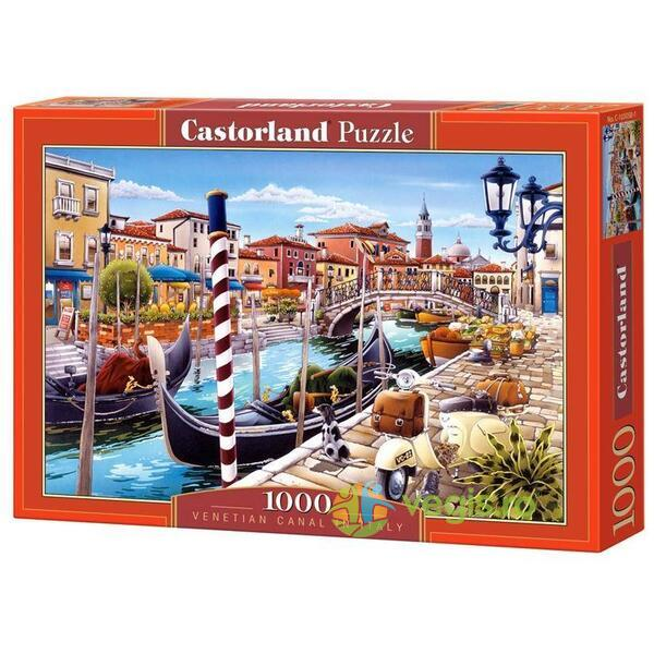 Puzzle 1000 Castorland - Venetian Canal in Italy