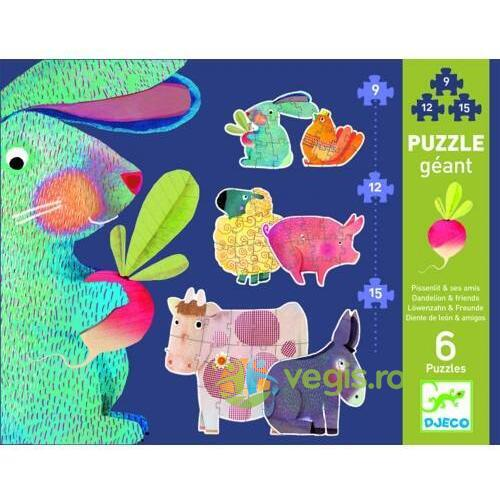 Puzzle gigant Djeco - Dandelion and friends