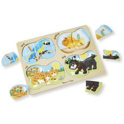 Puzzle lemn 4 in 1 Animale de companie 2 ani+ Melissa and Doug